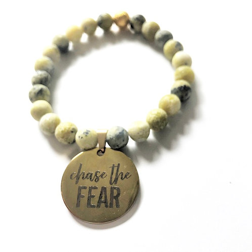 CHASE THE FEAR- GREEN/GOLD