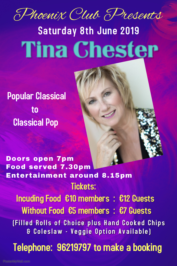Phoenix Club 8th June Poster - Tina Ches