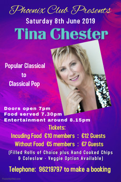 Phoenix Club 8th June Poster - Tina Ches