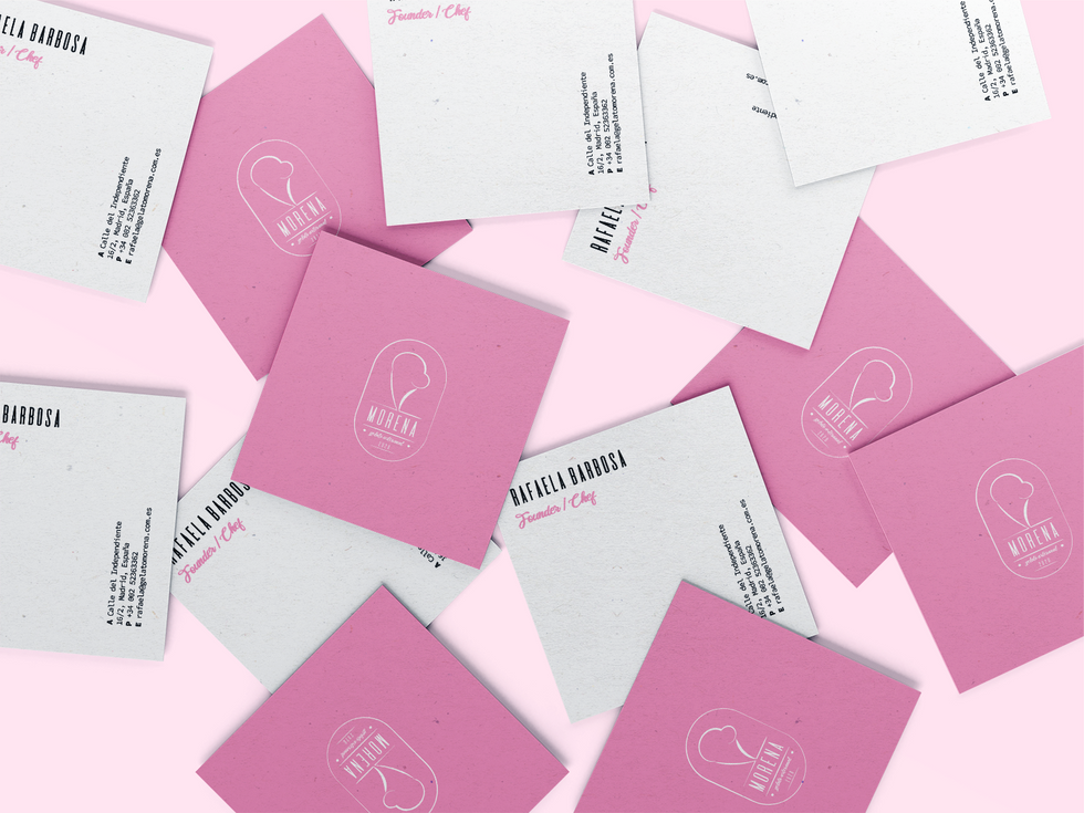 Square Business Card Mockup - Compact.pn