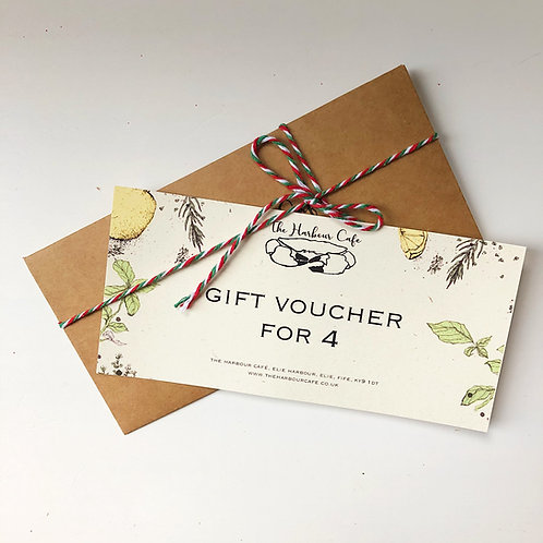 A Taste of The Harbour Café at Home Gift Voucher for 4