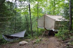 Tente de camp d'été