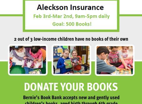 Bernie's Book Bank Charity Drive!