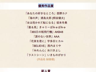第58回日本レコード大賞 新人賞「BOYS AND MEN」