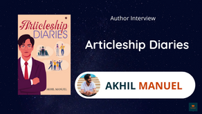 Interview With Akhil Manuel, The Author of Articleship Diaries