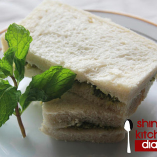 Green Mint Cheese Sandwich