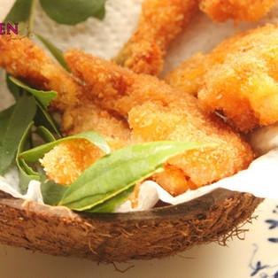 Spicy Coconut Prawn Fry