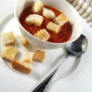 Tomato Soup with Croutons