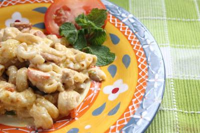 Macaroni Casserole With Carbonara Mushroom Sauce