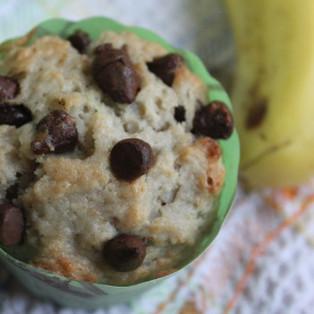 Eggless Banana Chocolate Chips Muffins