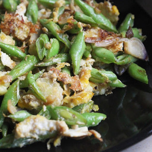 Stir Fry FrenchBeans with Egg