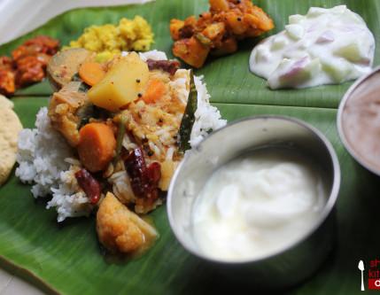 Banana leaf Vegetarian Menu