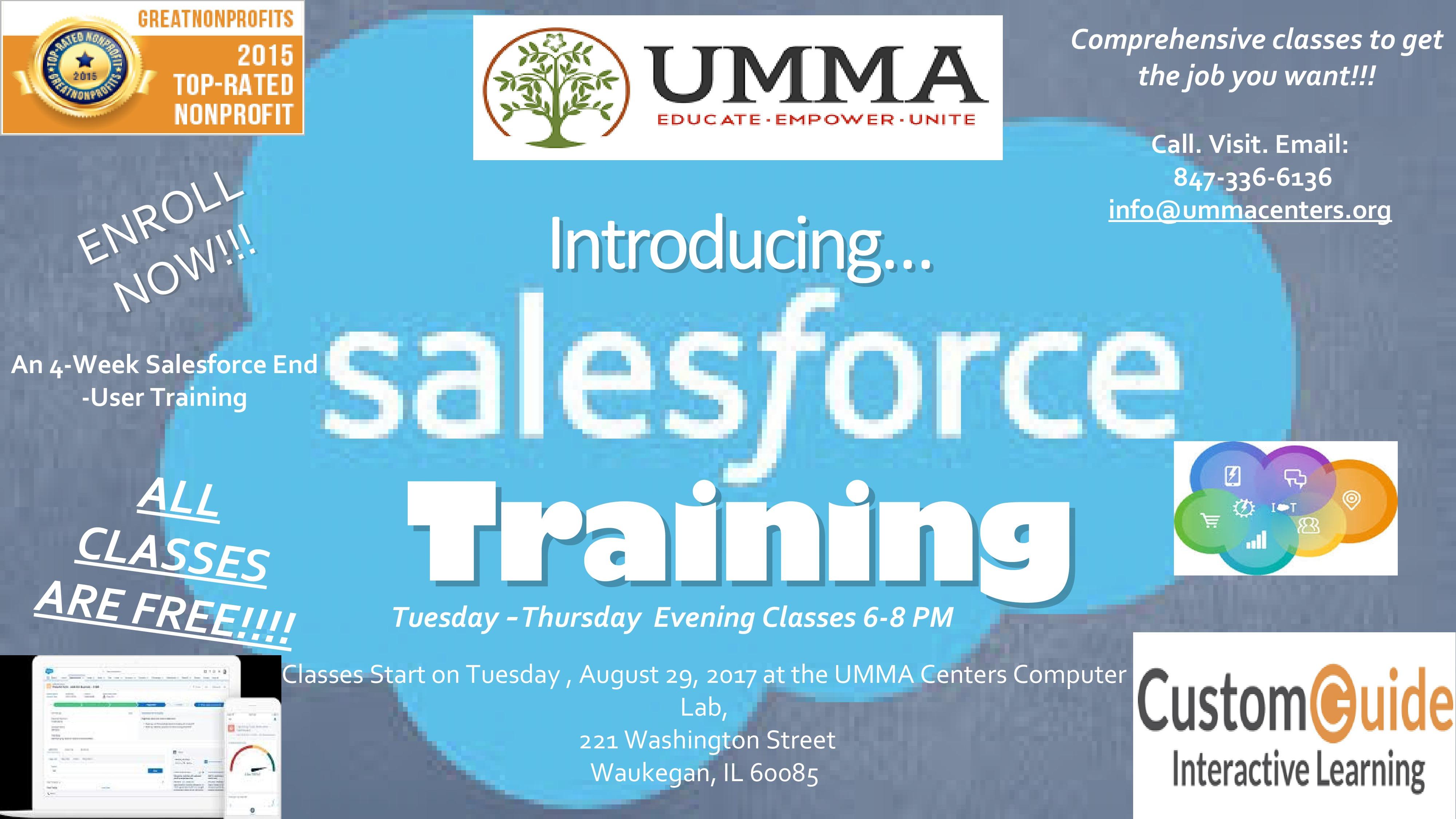 Salesforce com Training Class Tuesday and Thursday Evenings