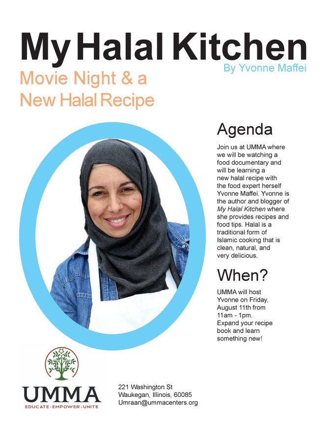My Halal Kitchen with Food Writer Yvonne Maffei Friday, August 11th from 11am-1pm