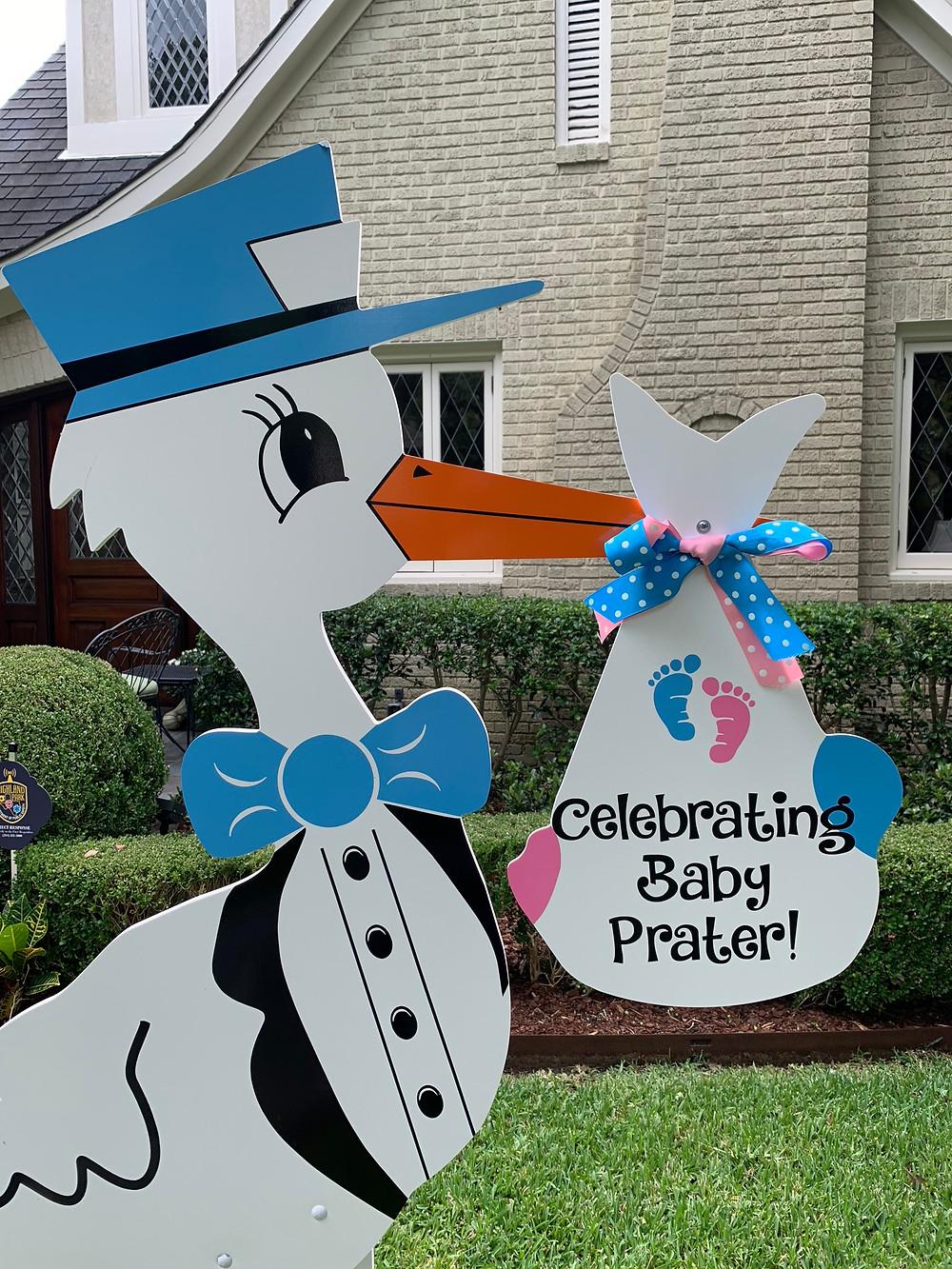 baby shower birth announcement