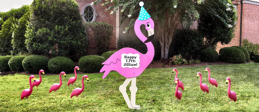Birthday Flamingo Flocking