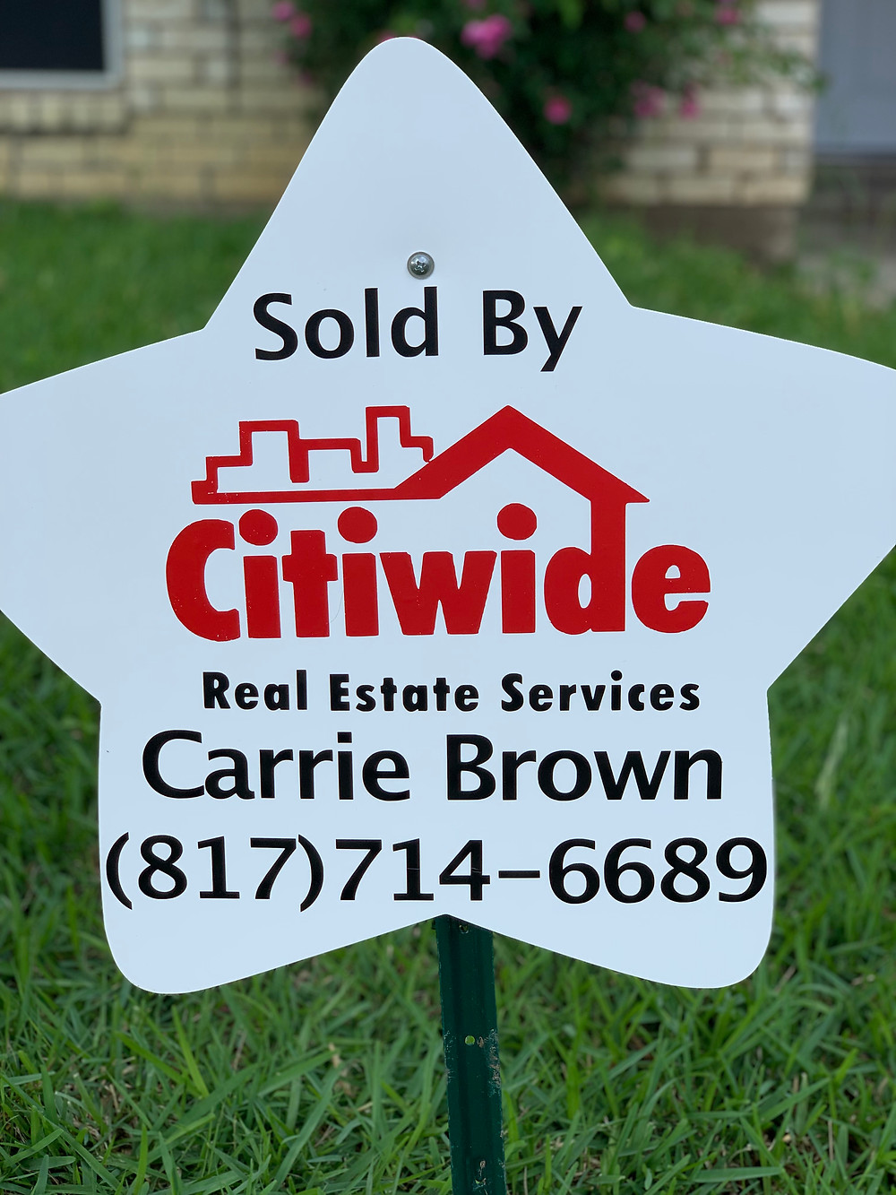 real estate message sign