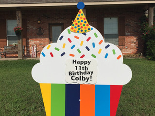 Facebook Giveaway Winner! Birthday Cupcake for Colby!