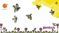 Bee wall paper