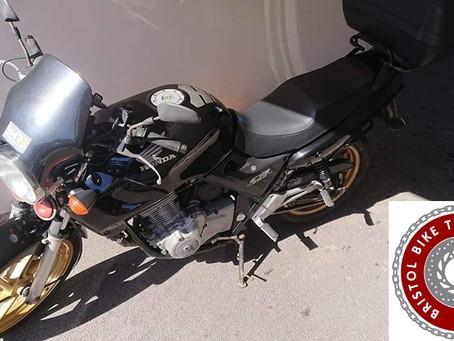 STOLEN - HONDA CB500 - BLACK - REG:LN51 FTP - Crime Ref: 5219184400
