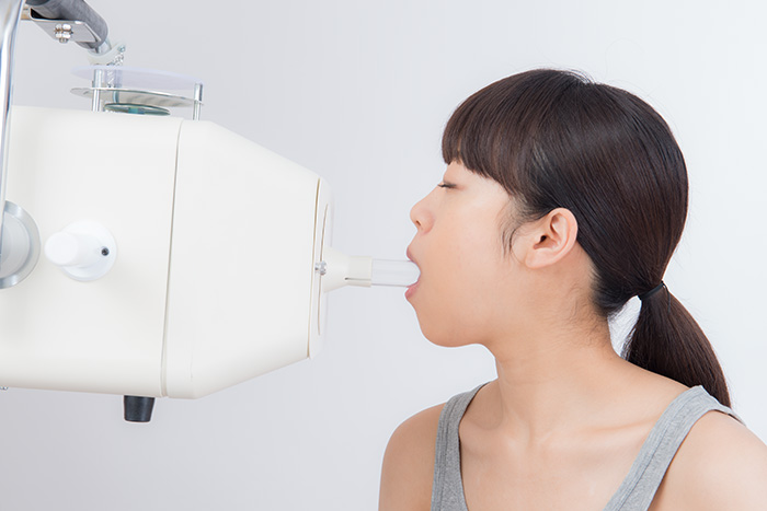集光器(ガラス管)を使用し口腔内照射