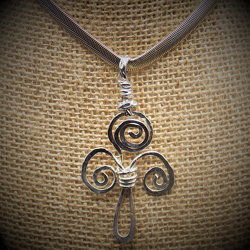 Celtic Triskele Sterling Silver Necklace