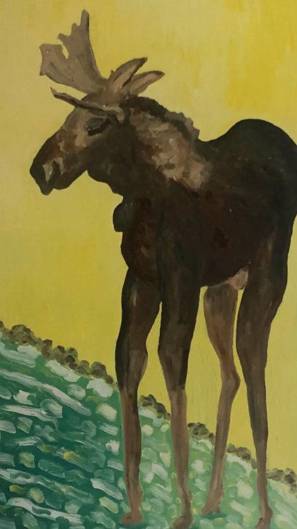 Unicorn Moose, oil on canvas