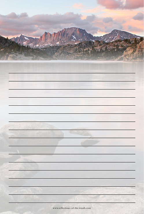 Note Pad - 6x9, Fremont Peak Alpenglow