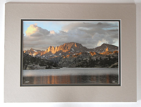 18x12 Fremont Peak Alpenglow, matted