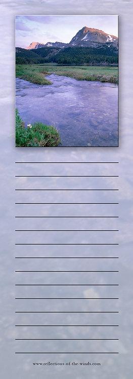 Note Pad - 3x9, Purple Mountain Majesty