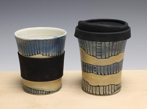 Travel Cup, 10 oz (fired in soda kiln)