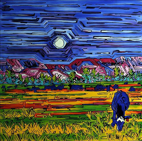 Full Moo, oil on canvas