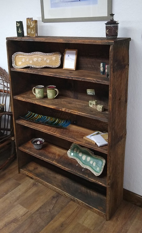 Large Barnwood Bookcase