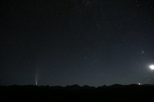 Comet Neowise and Moon Rise over the Winds, 324