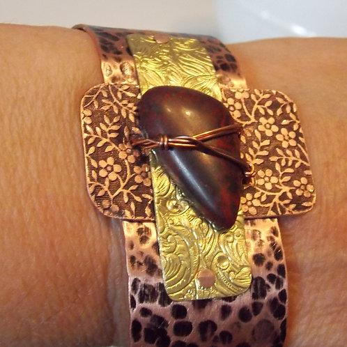 Jasper Stone, Multi Media Cuff Bracelet