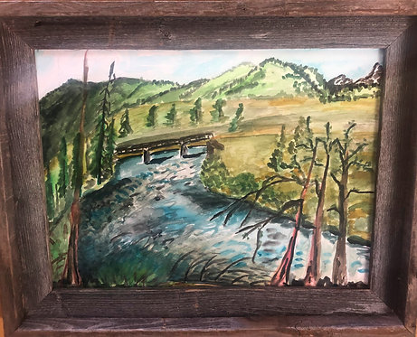 Wood River, water color