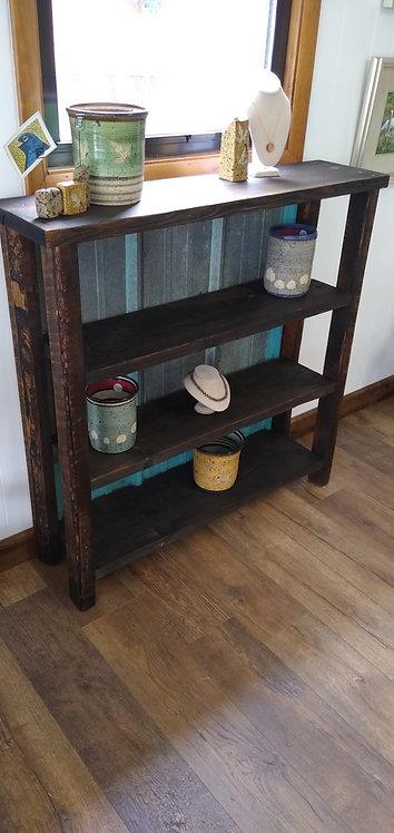 Medium Barnwood & Blue Tin Shelf Unit