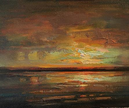 Summer Virga Study, oil on canvas