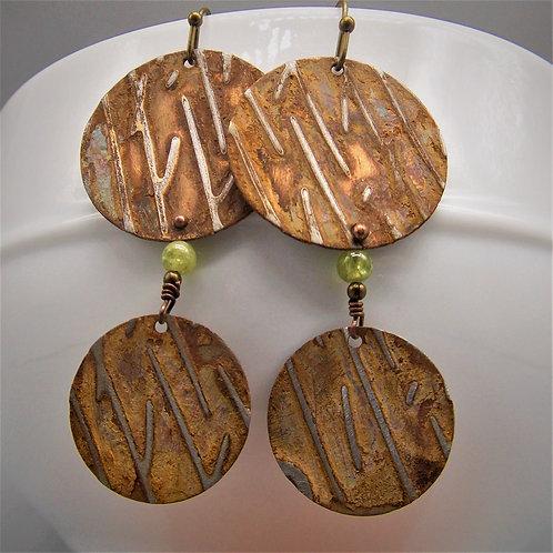Tree Bark earrings
