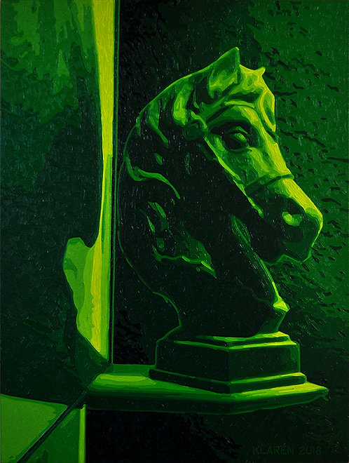 Stallion (My Hometown Series), oil on canvas