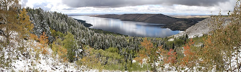 Panoramic - First Snow Above Fremont 17-0925