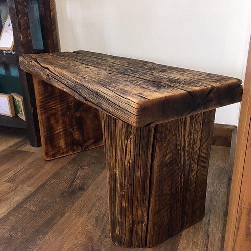 Barnwood Beam Bench