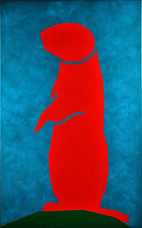 Sentinel (Pedestrian Series), acrylic on canvas
