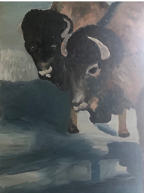Buffalo Wild, oil on canvas