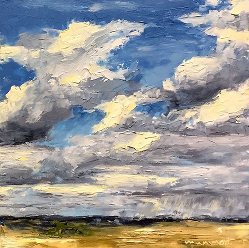 My Wyoming Sky 2, oil & cold wax