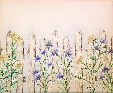 Grandma's Garden, watercolor painting