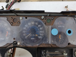 76' dash face speedometer
