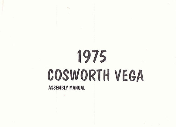 Cosworth Vega Assembly Manual 1975