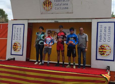 Marc Delgado sube al podio en la Copa Catalana de ciclocrós infantil de Sant Fruitós de Bages