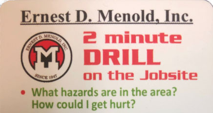"'Two Minute Drill"" Safety Initiative"